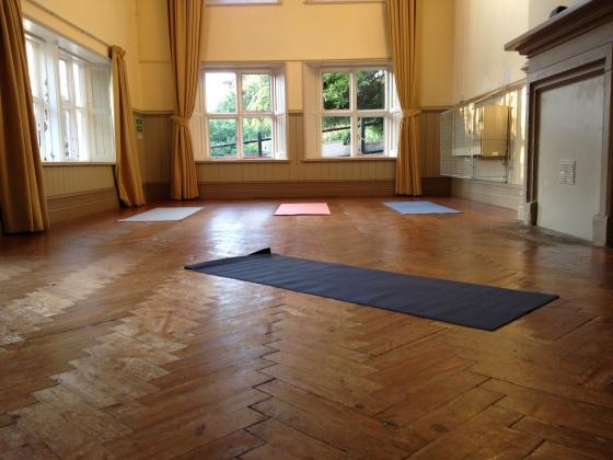 yoga practice room